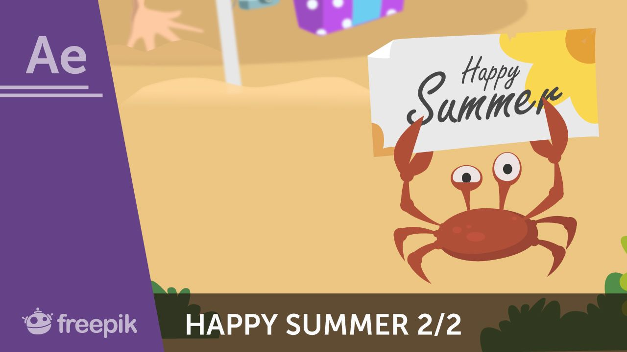 Video Tutorial: How To Animate A Happy Summer Postcard In After Effects  (part 2