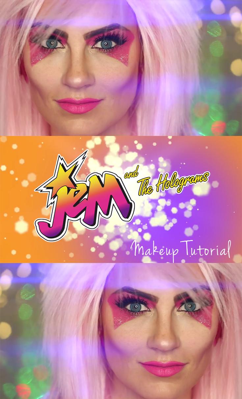 video: jem & the holograms halloween makeup tutorial | my makeup
