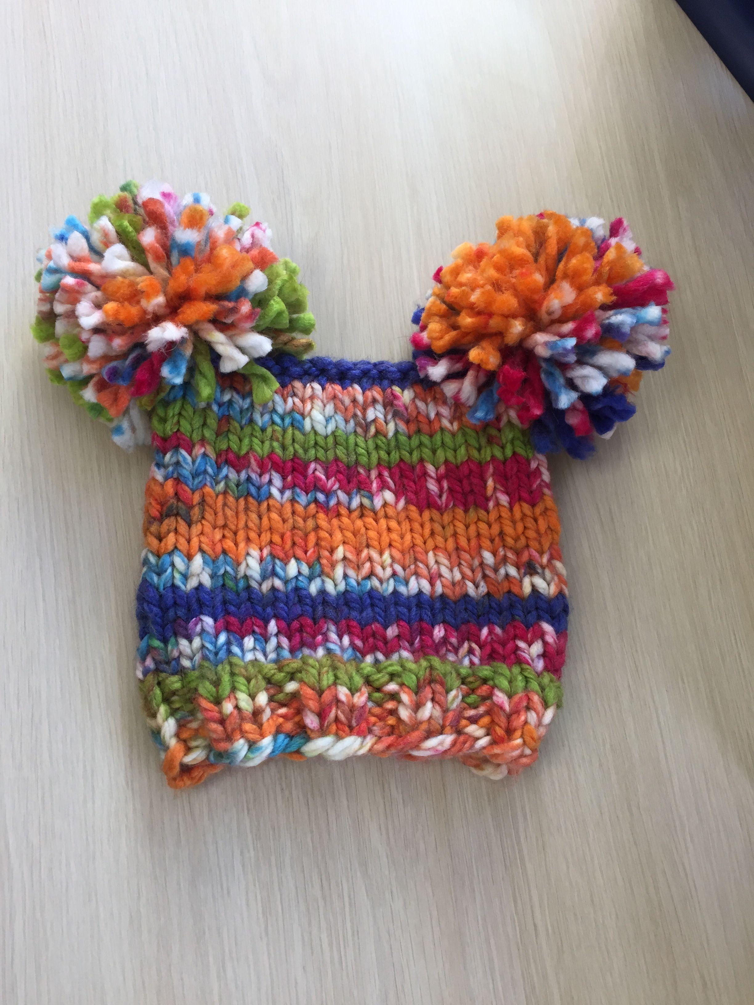 Super bulky kids hat knitting pattern. I knit straight for same # of ...