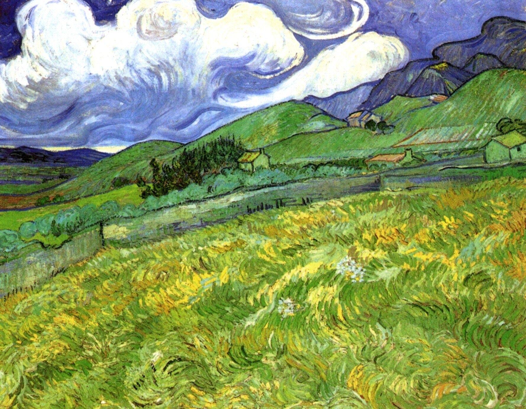 Vincent Van Gogh Paisaje Montanoso Detras Del Hospital De San Pablo 1889 Van Gogh Art Van Gogh Landscapes Vincent Van Gogh Paintings