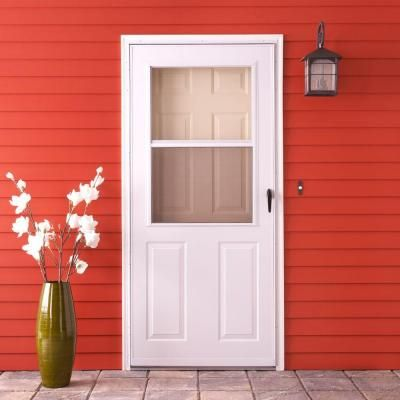 Storm Doors Emco 200 Series White Aluminum Traditional