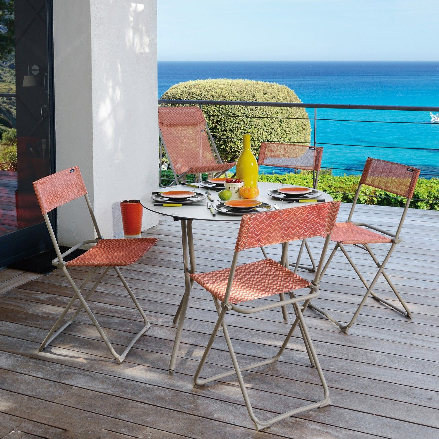 Anytime Folding Table, Round By Lafuma   YLiving