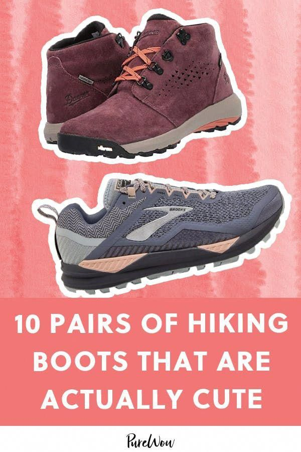 10 Pairs of Actually Cute Hiking Boots to Save You from Shin Splints in Style #purewow #shopping #shoes #fashion #fitness #outdoor #hikingshoes