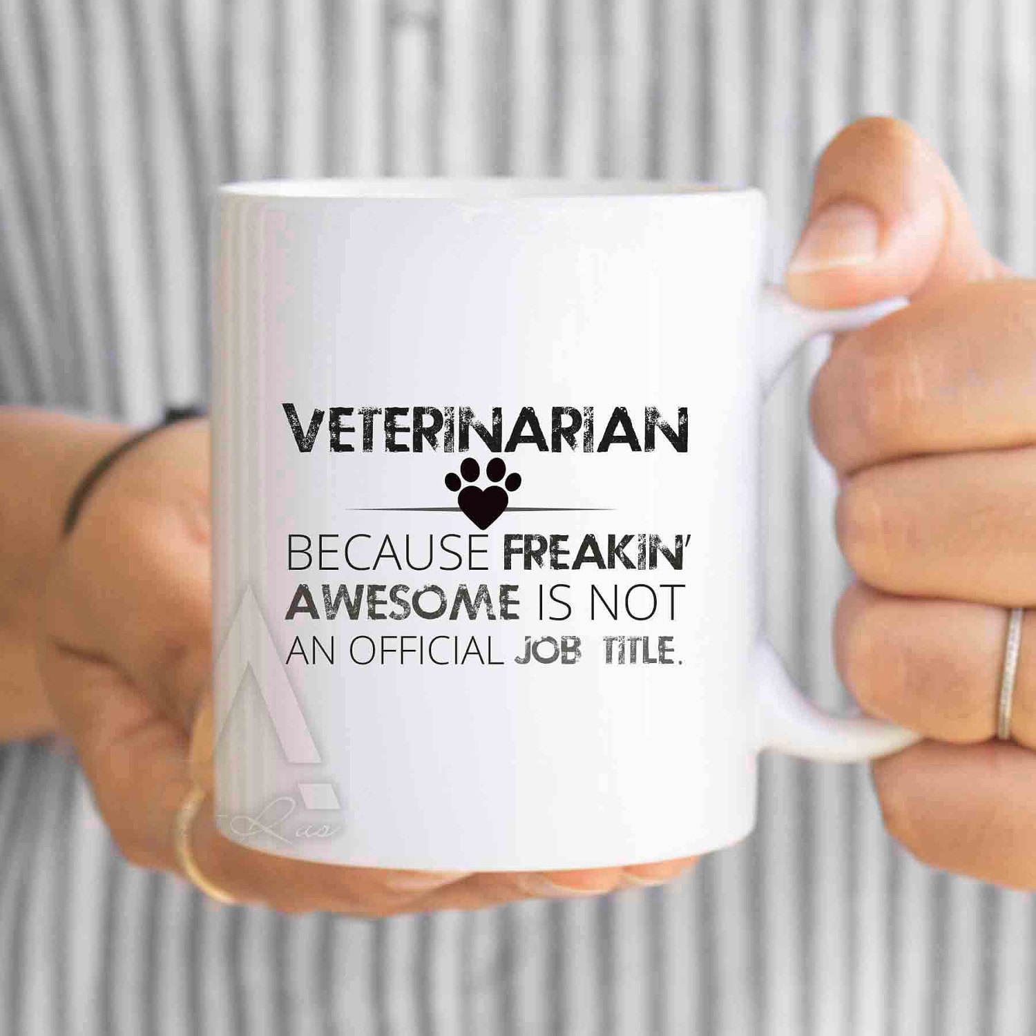veterinarian because freakin awesome is not an official job title funny coffee mug christmas gifts for coworker gifts funny mug mu436 by artruss on etsy