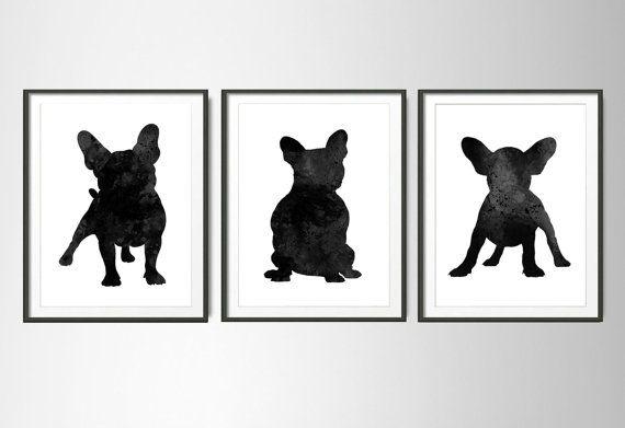 French+Bulldog+Set+of+3+PosterFrench+Bulldog+от+ColorfulArtstudio
