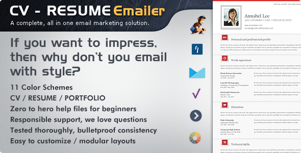 Cv Folio  ResumePortfolio Email Newsletter  Cv Has Features