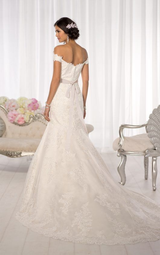 Back view of  beautiful wedding dresses by essense australia available at christy   bon belle in burlington wi bonbonbelle also lace dress bridal gowns rh pinterest
