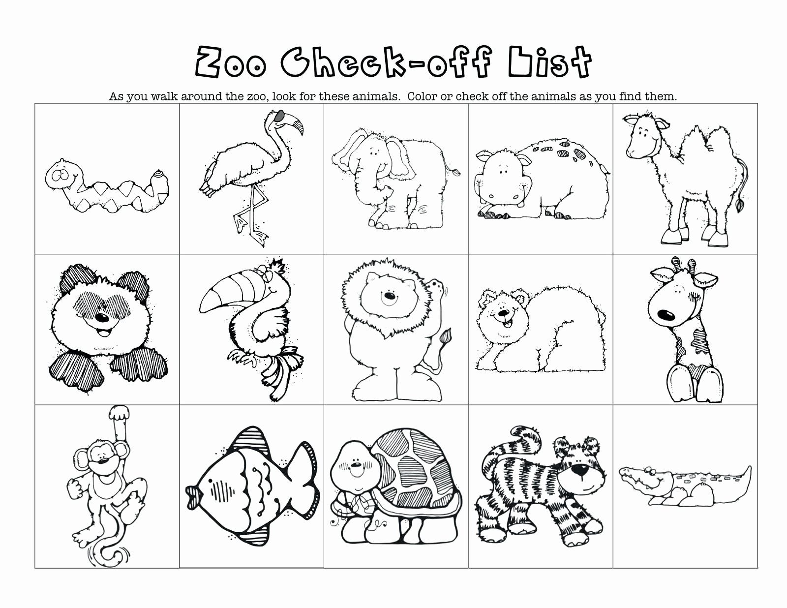 Coloring Pages Zoo Animals Preschool In With Images