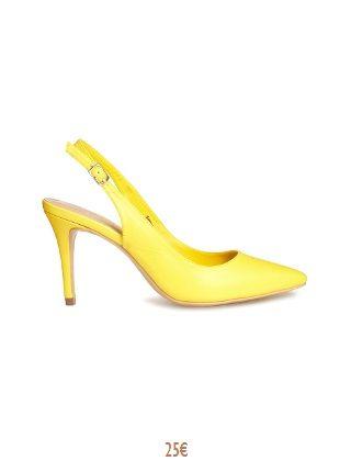 f759b6e5e9a0d2 Escarpin ouvert derrière - Jaune | shoes