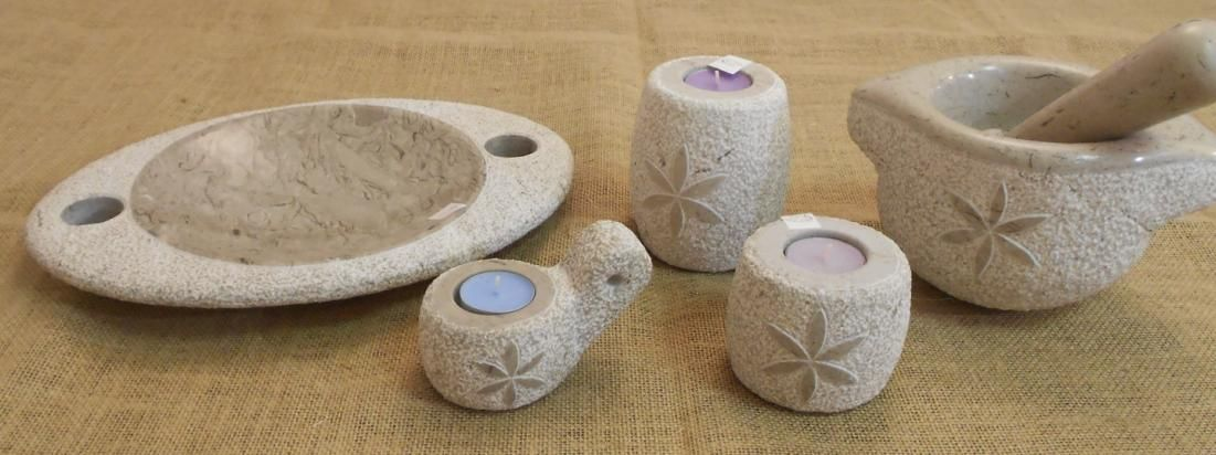 Unique products hand-made of Karst stone.