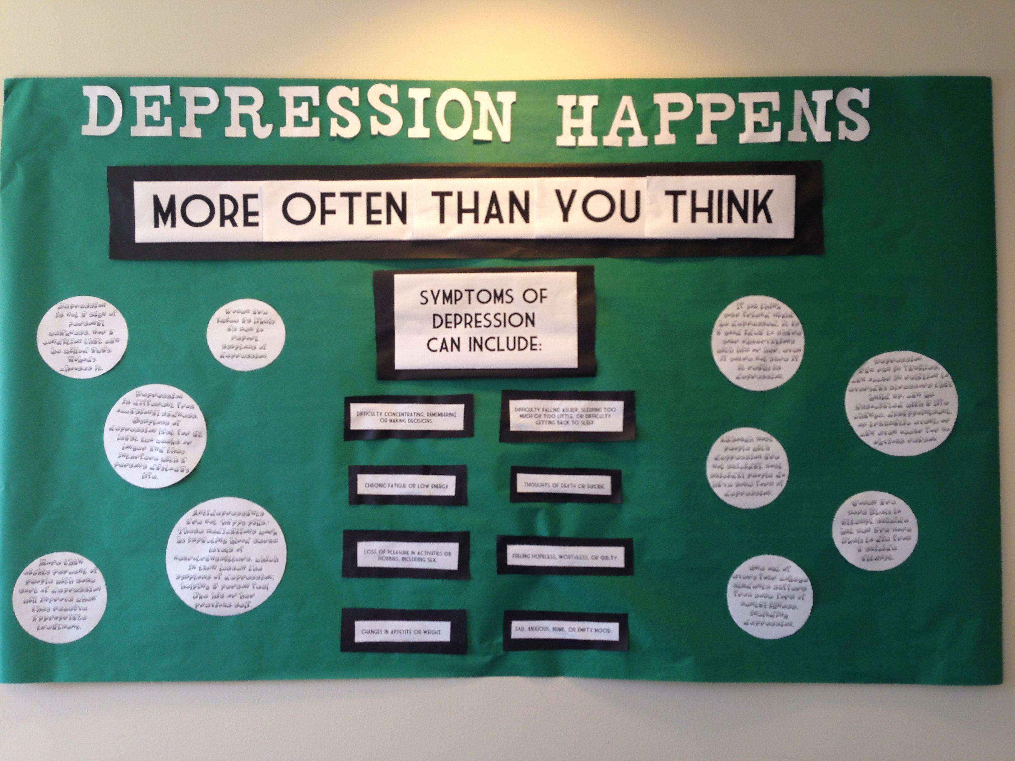 Quot Depression Happens Quot Dardick 3 Ra Bulletin Board Passive