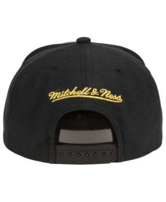 193b1d1bfb2d0 Mitchell   Ness Miami Heat Metallic Tempered Snapback Cap - Black Adjustable