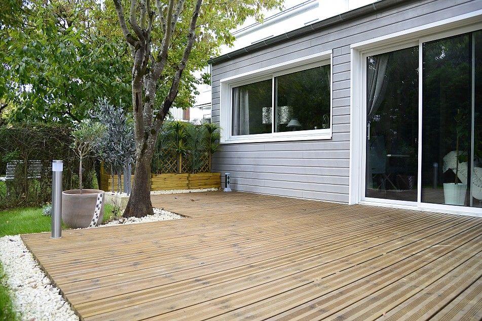 Une large terrasse bois spa Pinterest Spa - construction d une terrasse bois
