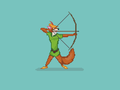 8 Bit Robin Hood Robin Hood Disney Robin Hood Robin Robin Hood Disney Pixel Art Robin Hood