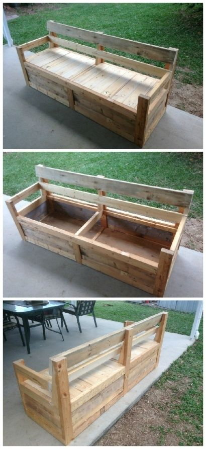 Patio Chair Storage Box Made With Pallets Pallet Patio 400 x 300