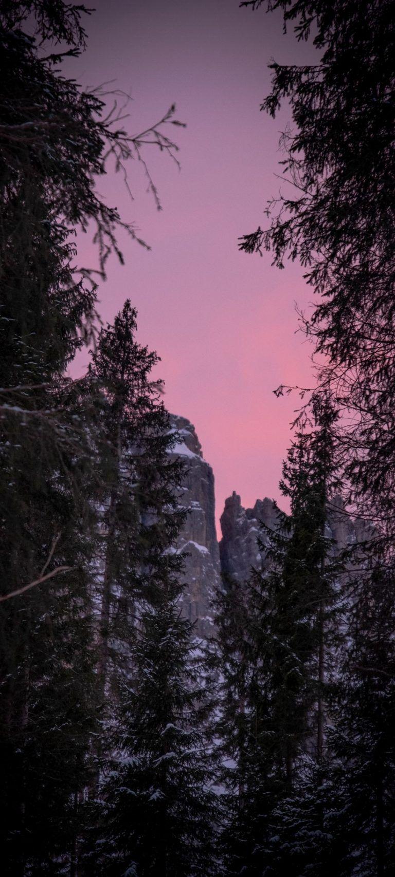 Twilight Snow Mountains Nature – [1080×2400] 4K