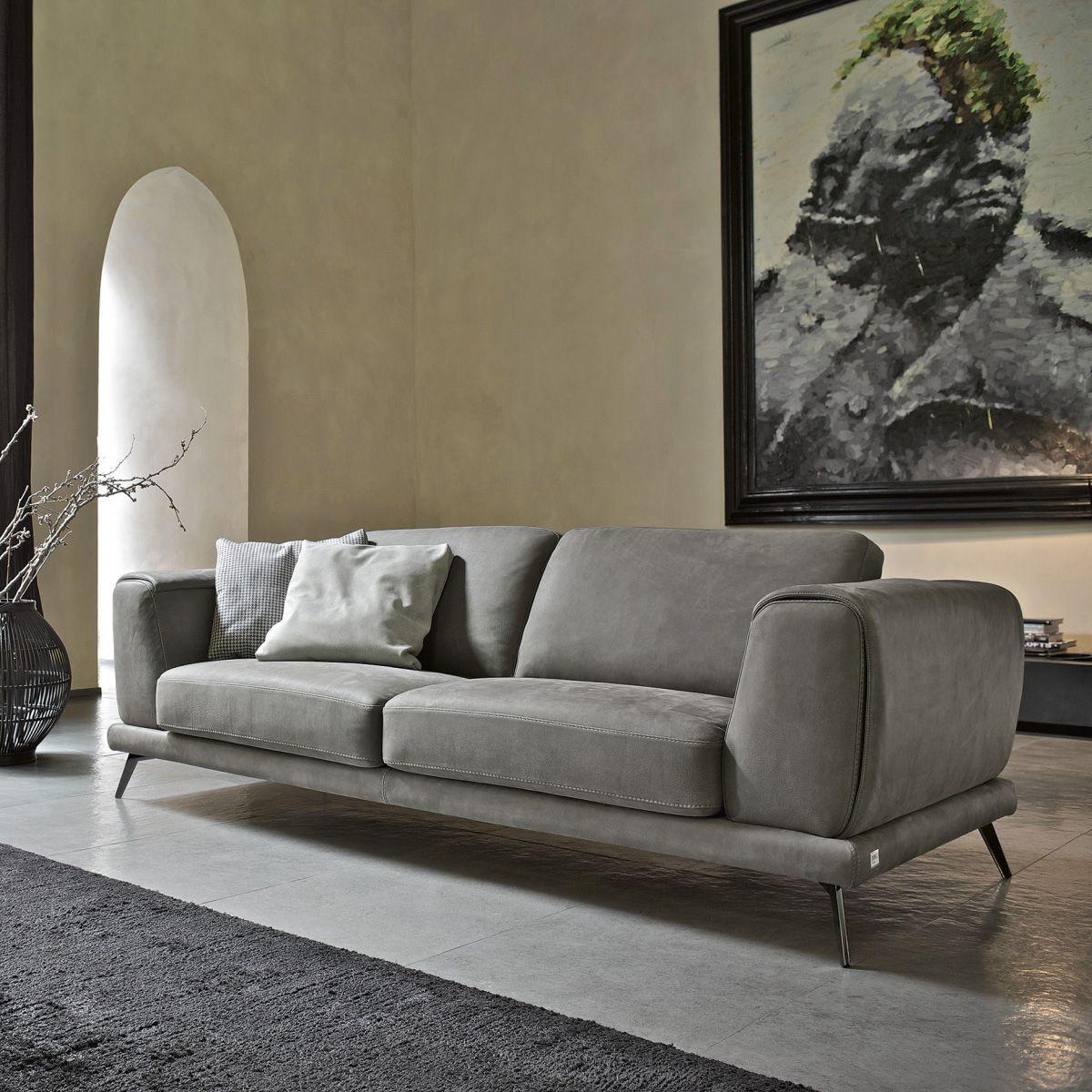 Divano in pelle di Design - Denver - Collezione EMPORIO di Doimo ...