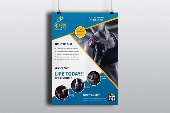 Fitness Club Flyer Template Gym Flyer Template Photoshop - corporate flyer template