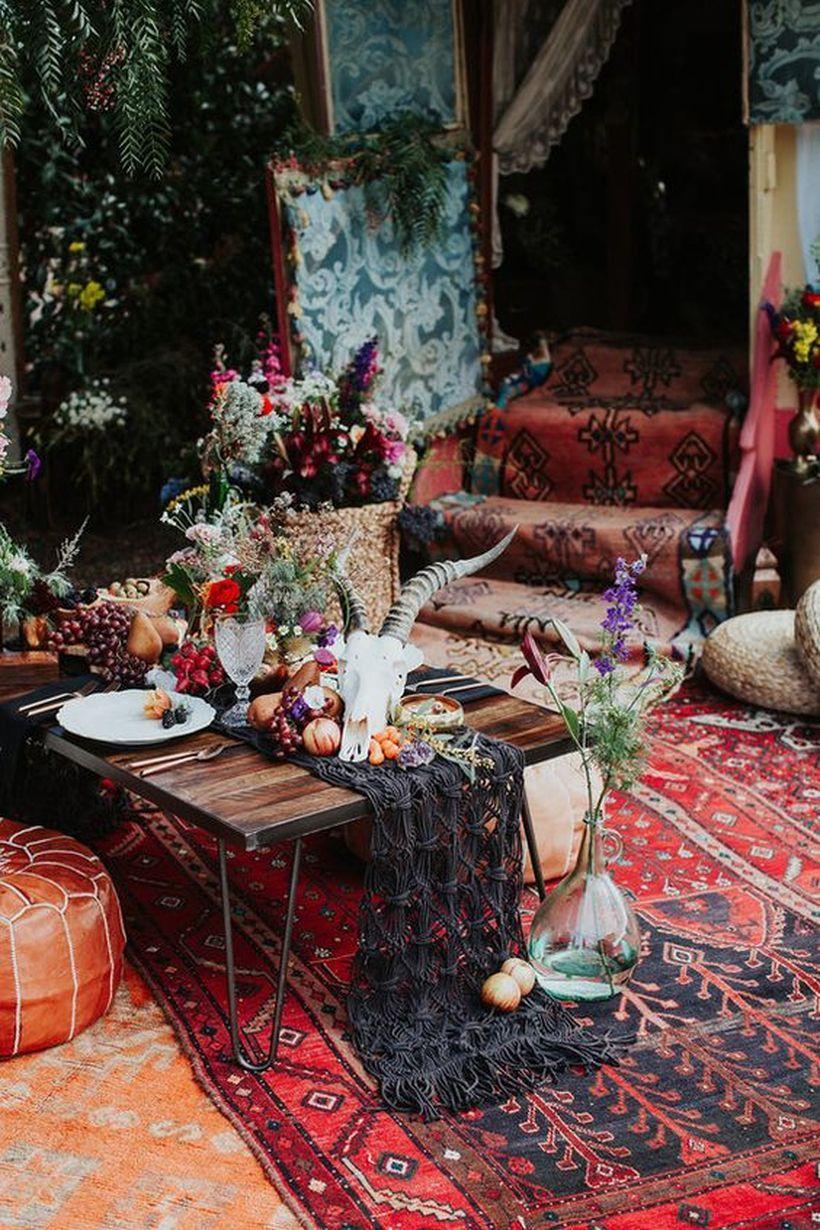 lovely bohemian wedding decoration ideas matchness com bohemian chic decor bohemian decor on boho chic kitchen table decor id=54482
