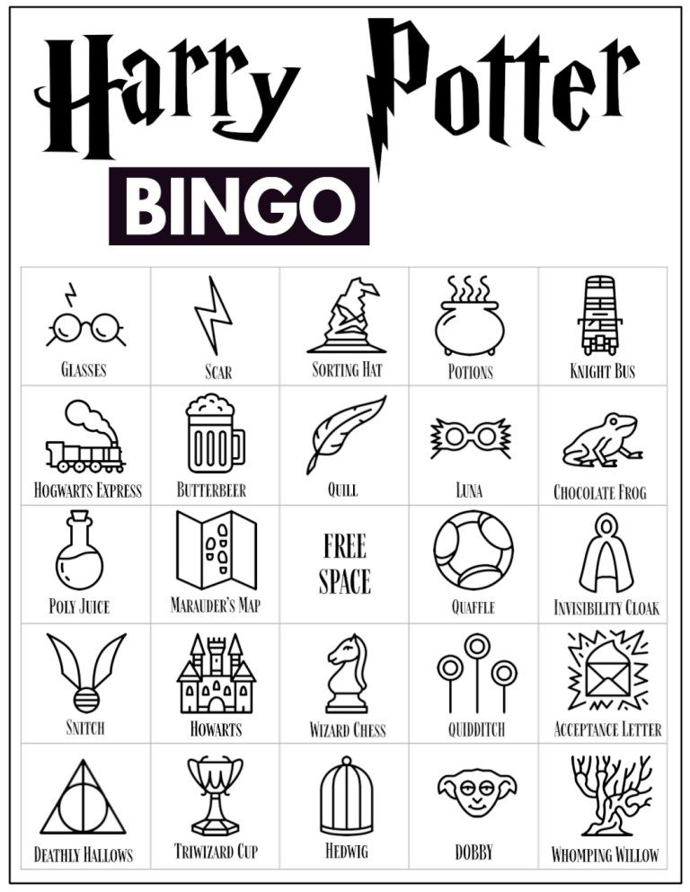 Photo of Free Printable Harry Potter Bingo Game – Paper Trail Design
