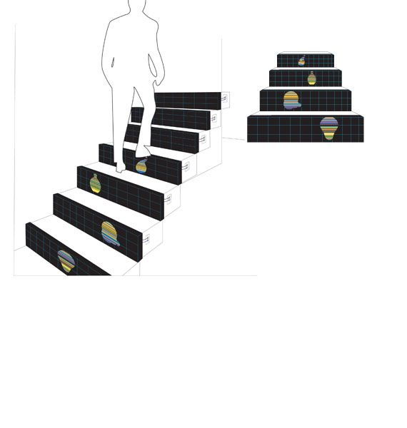 Interactive Stair concept  stair design  Pinterest
