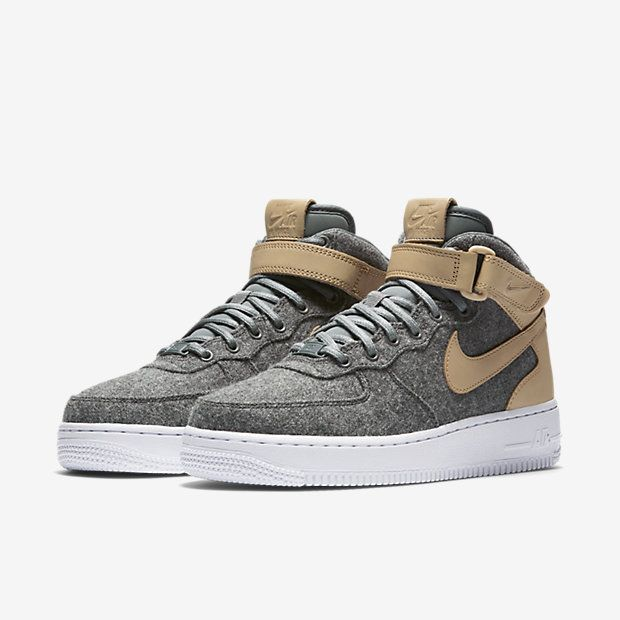 ... Nike Air Force 1 07 Mid Leather Premium Womens Shoe ...