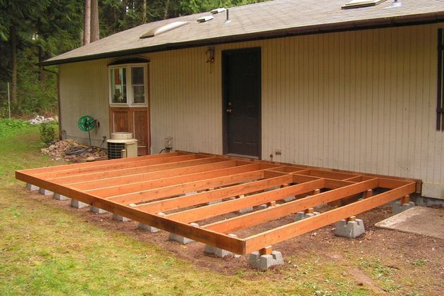 how to make a ground level wooden deck garden and lawn pinterest