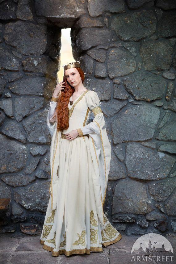 The Accolade Wedding Dress - white velvet bridal gown; ren dress ...