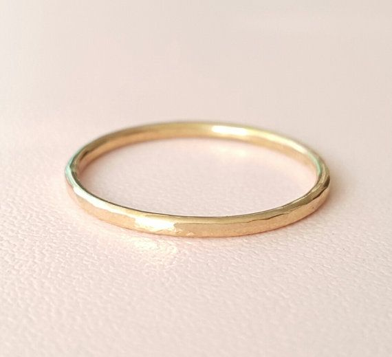 Solid Gold Ring 14k yellow gold stacking ring choose by bluebirdss