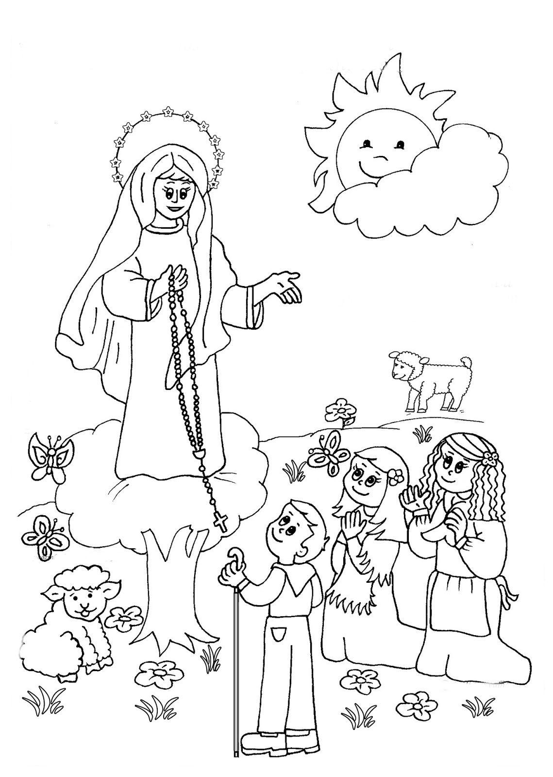 imagenes de la virgen maria para pintar | Mayo Mes Maria | Pinterest ...