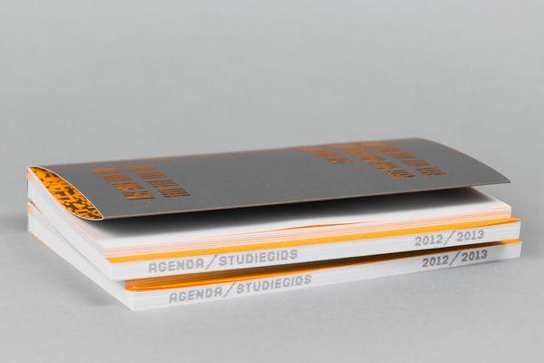 Agenda / Studiegids 2012-2013 Academie Minerva by Yuri Nauta Jan-Roelof de Vries, via Behance