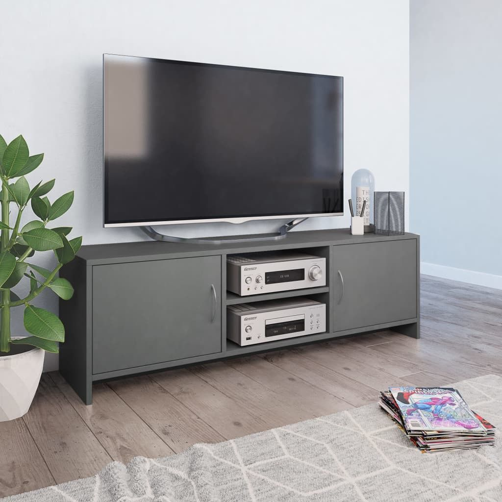 Stevige Tv Kast.Tv Meubel 120x30x37 5 Cm Spaanplaat Grijs In 2020 Spaanplaat