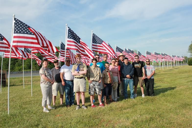 Denton rotary is holding its first annual flags for heroes