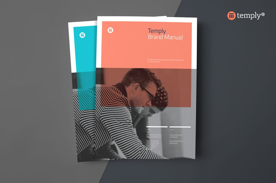 Brand Manual Template By Temply On Creative Market  Graphic
