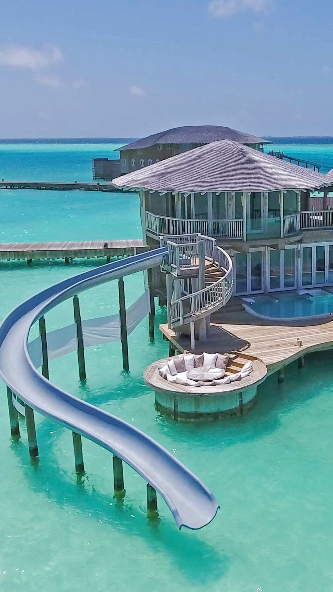 , Water Villa With Slide, Travel Couple, Travel Couple
