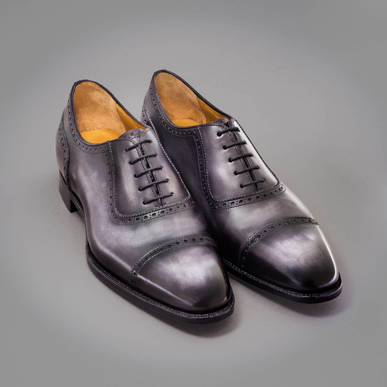 Altan Bottier, oxford shoe, men's shoes, luxury shoes, patina, patinated  leather