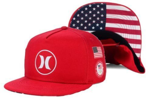 info for bceac 3244d ... cheapest new hurley mens dri fit team usa olympic team trucker snapback  hat cap red hurley