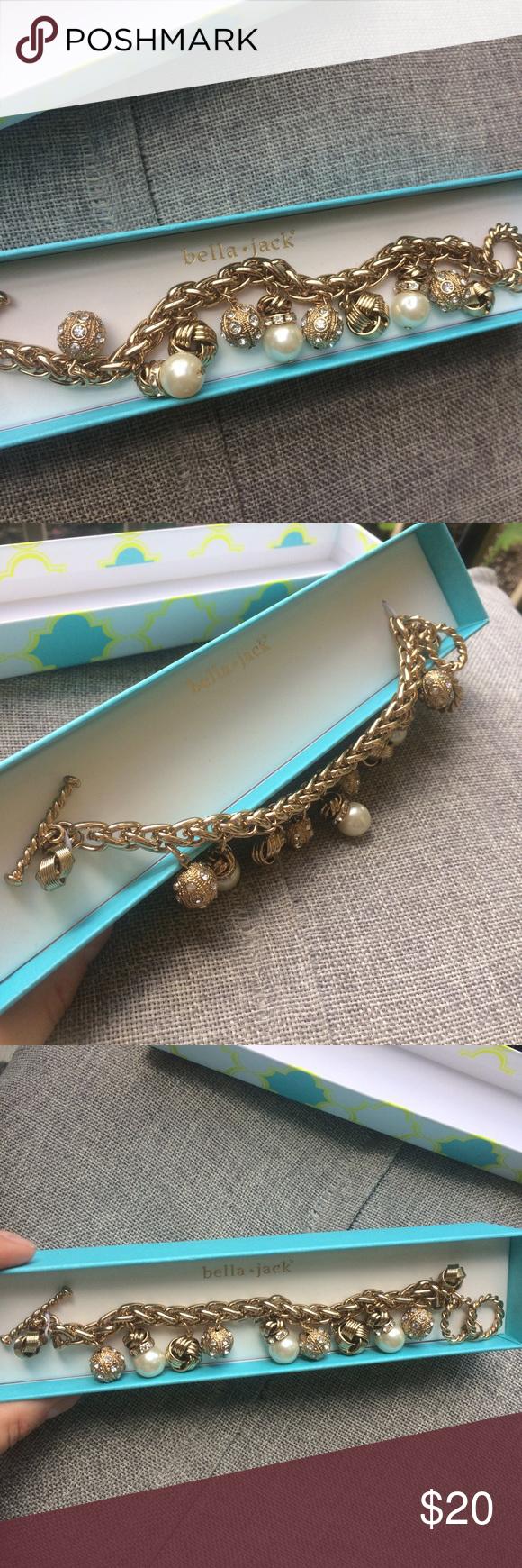 Bella jack golden charms bracelet NWT | Jewelry bracelets, Bracelets ...
