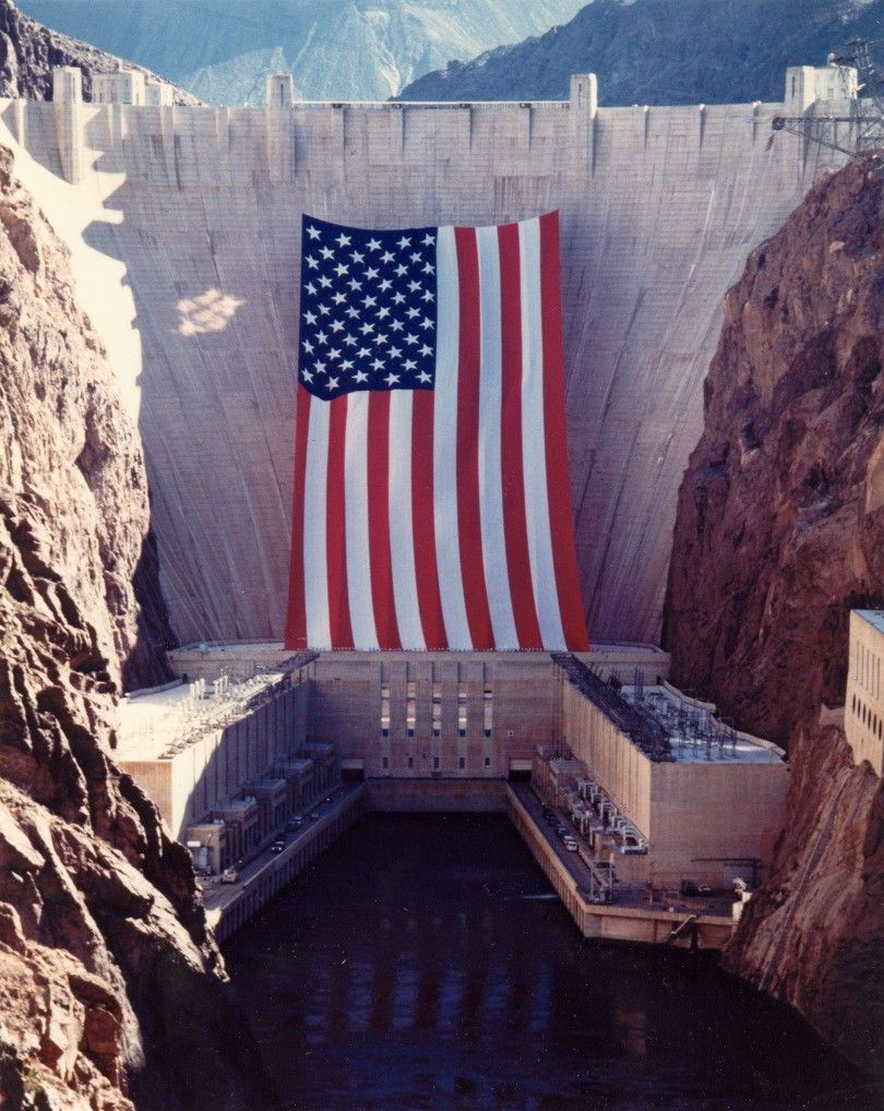 Pin By Jeanine Bauman On Beautiful Planet Large American Flag Hoover Dam I Love America