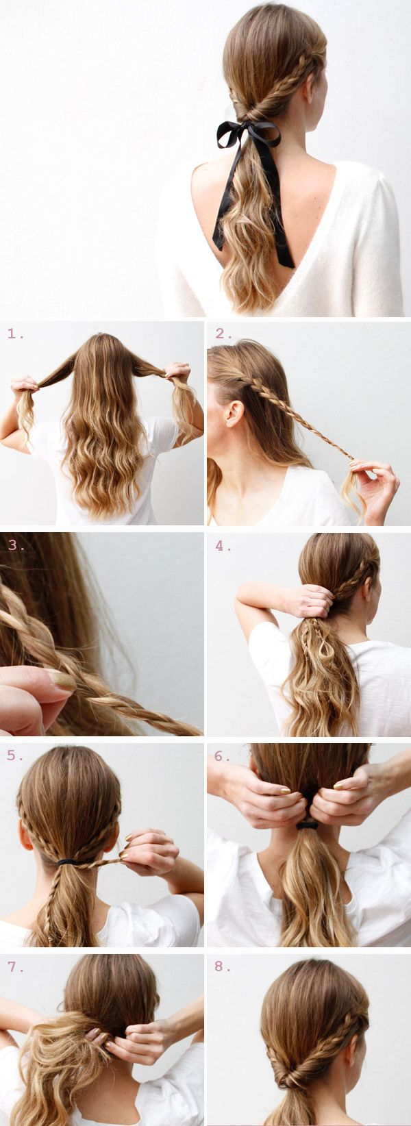 easy step by step hairstyle tutorials for long hair   Easy ...