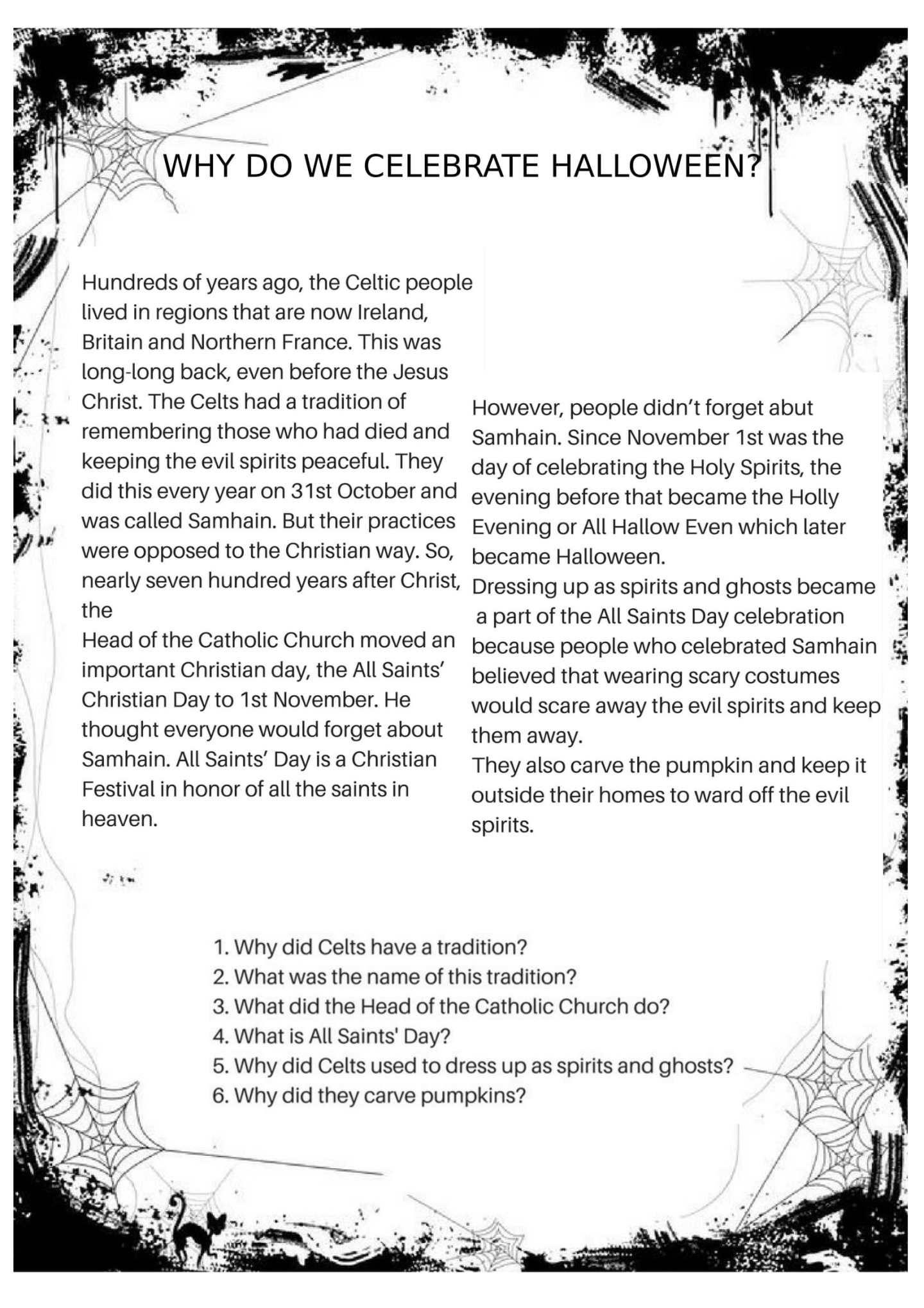 Halloween Worksheets Halloween Worksheets Halloween Classroom Holiday Activities For Kids [ 2038 x 1440 Pixel ]