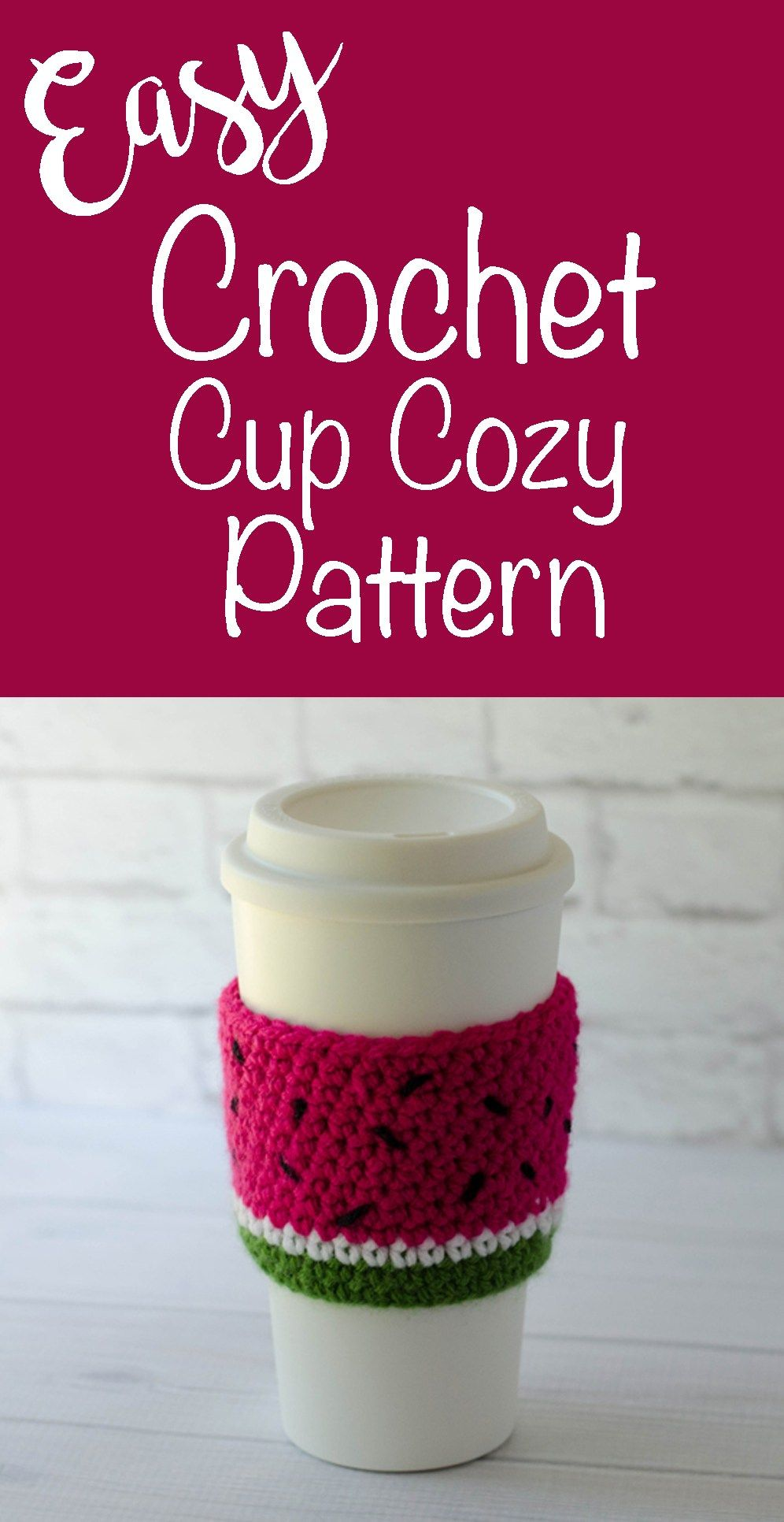 Watermelon Cup Cozy | Cozy, Cups and Crochet