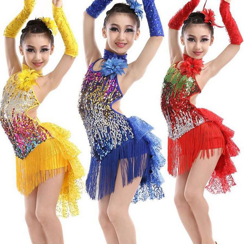 Sequined Girls Latin Dancewear Costumes Kids Childrenu0027s Ballroom dancing dress  sc 1 st  Pinterest & Sequined Girls Latin Dancewear Costumes Kids Childrenu0027s Ballroom ...