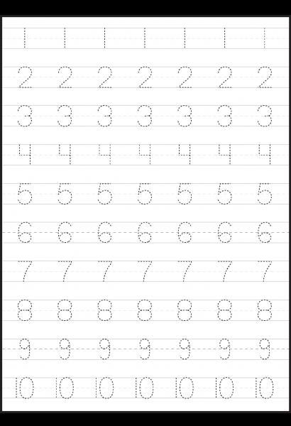 Tracing Numbers 1 20 Atividades De Aprendizagem Para Criancas Tarefas Do Jardim De Infancia Atividades Alfabetizacao E Letramento