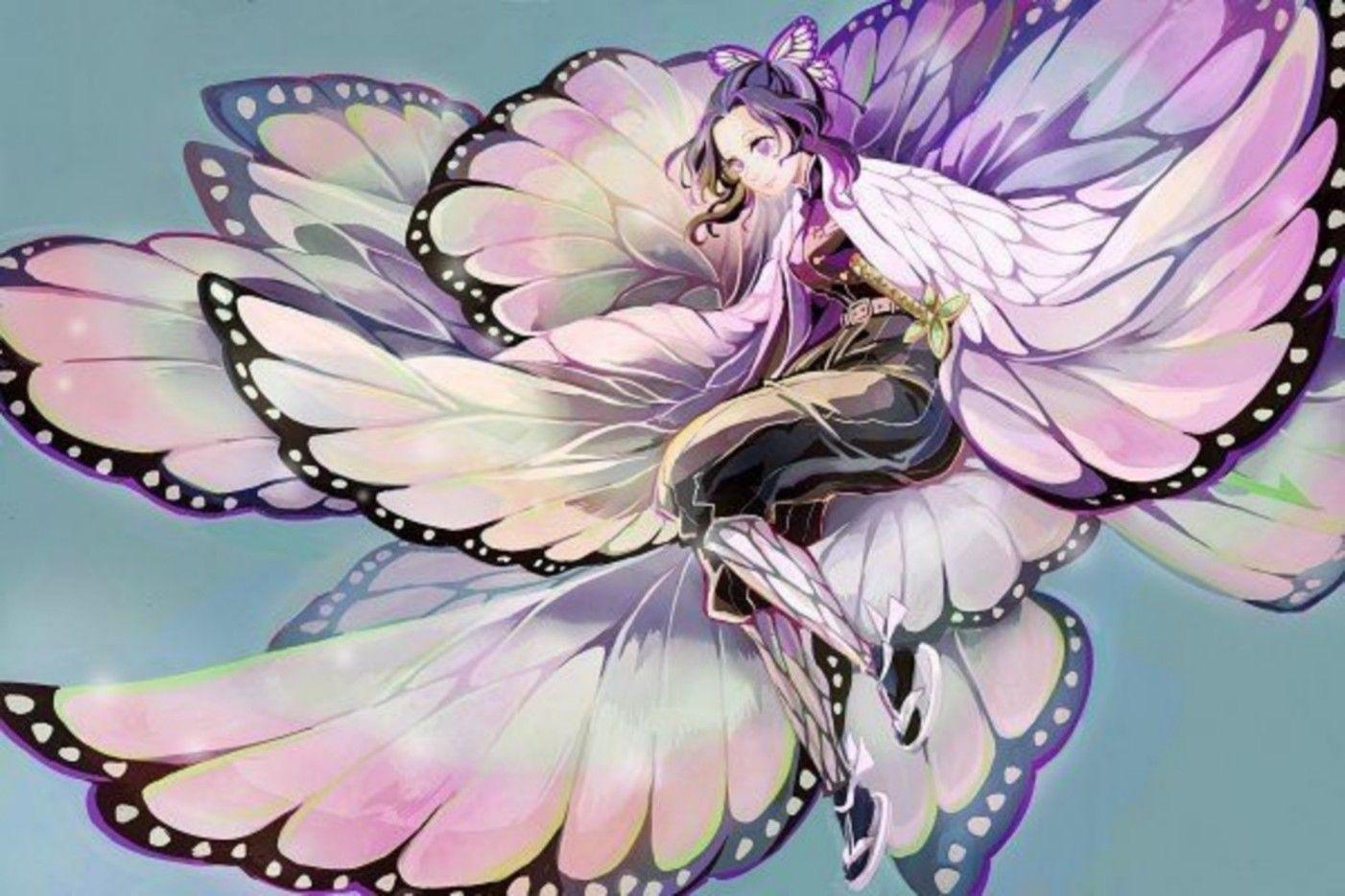 鬼滅の刃胡蝶しのぶかっこいいイラスト