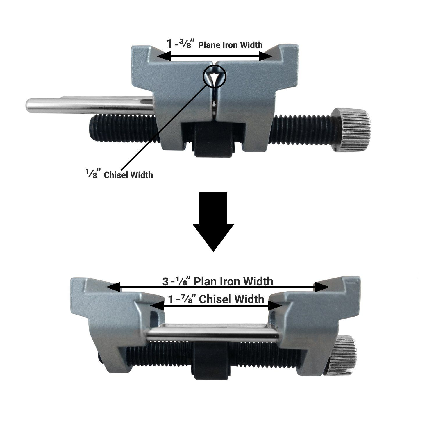 "Fits Planer Blades 1-3//8/"" to 3-1//8/"" ATLIN Honing Guide Fits Chisels 1//8/"" to 1-7//8/"""