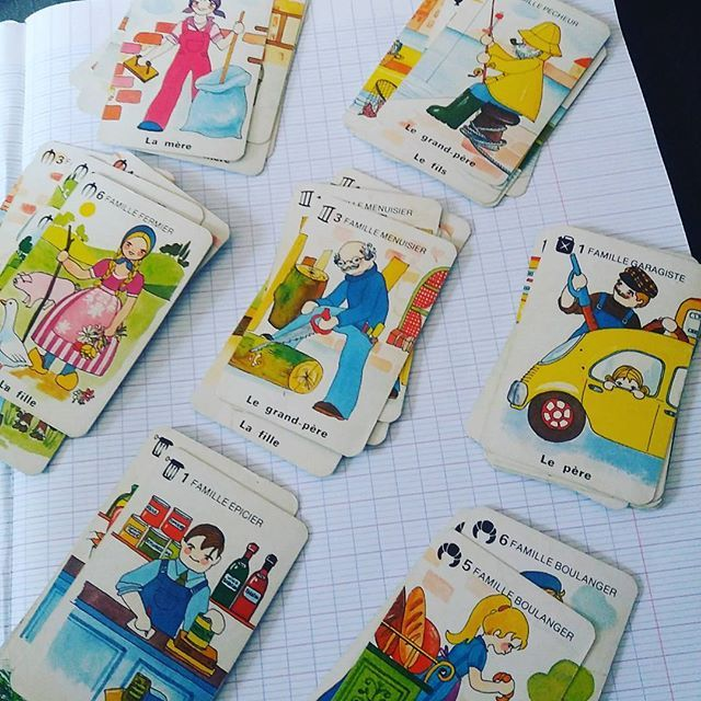 French Happy Families Card Game Complete But No Box Great