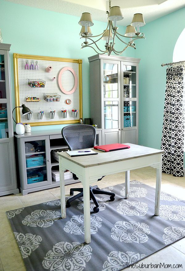 Home Office Makeover Lots Of Storage And A Diy Framed Pegboard
