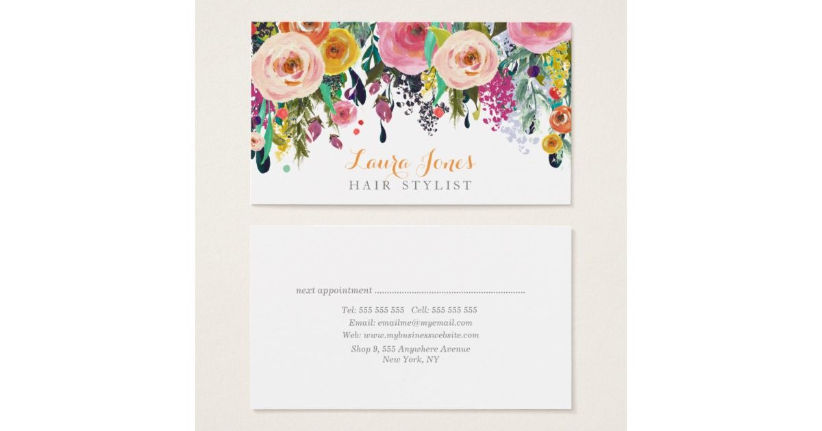 Slikovni rezultat za floral design business card template | floral ...