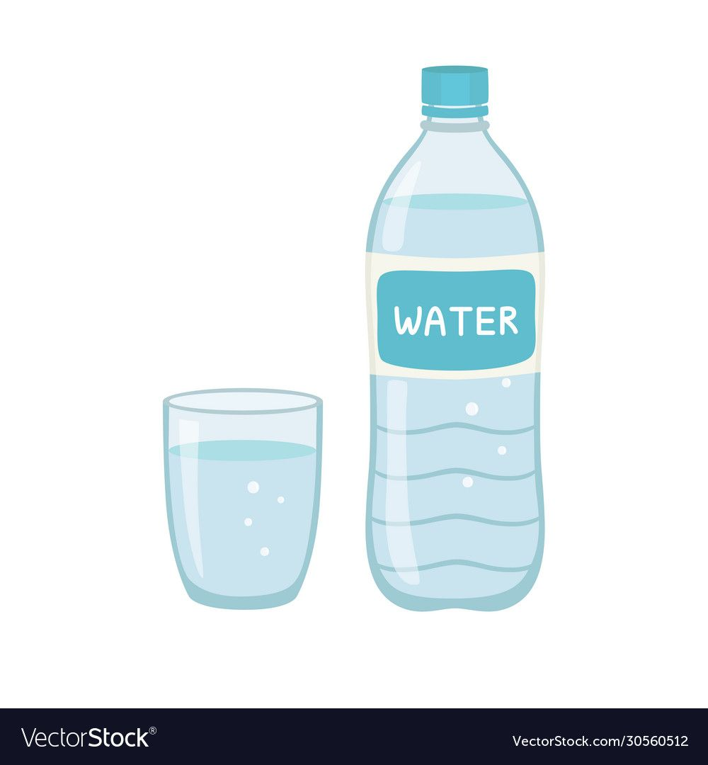 Bottle Water Natural And Glass Vector Illustration Isolated On White Background Eps10 Download A Free Preview Or High Qu Water Bottle Bottle Water Aesthetic
